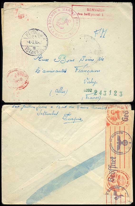1942 bâtiment interné en Turquie T1600
